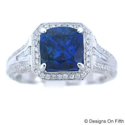 View 18K Yellow  or 18k White  Gold<BR> Tanzanite Ring