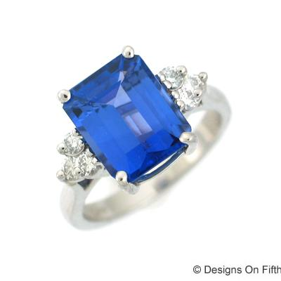 View Platinum Gold<BR> Tanzanite Ring